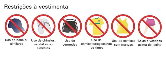 Restrição a vestimentas